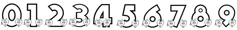 Les chiffres de 0 à 9 (zéro - neuf)