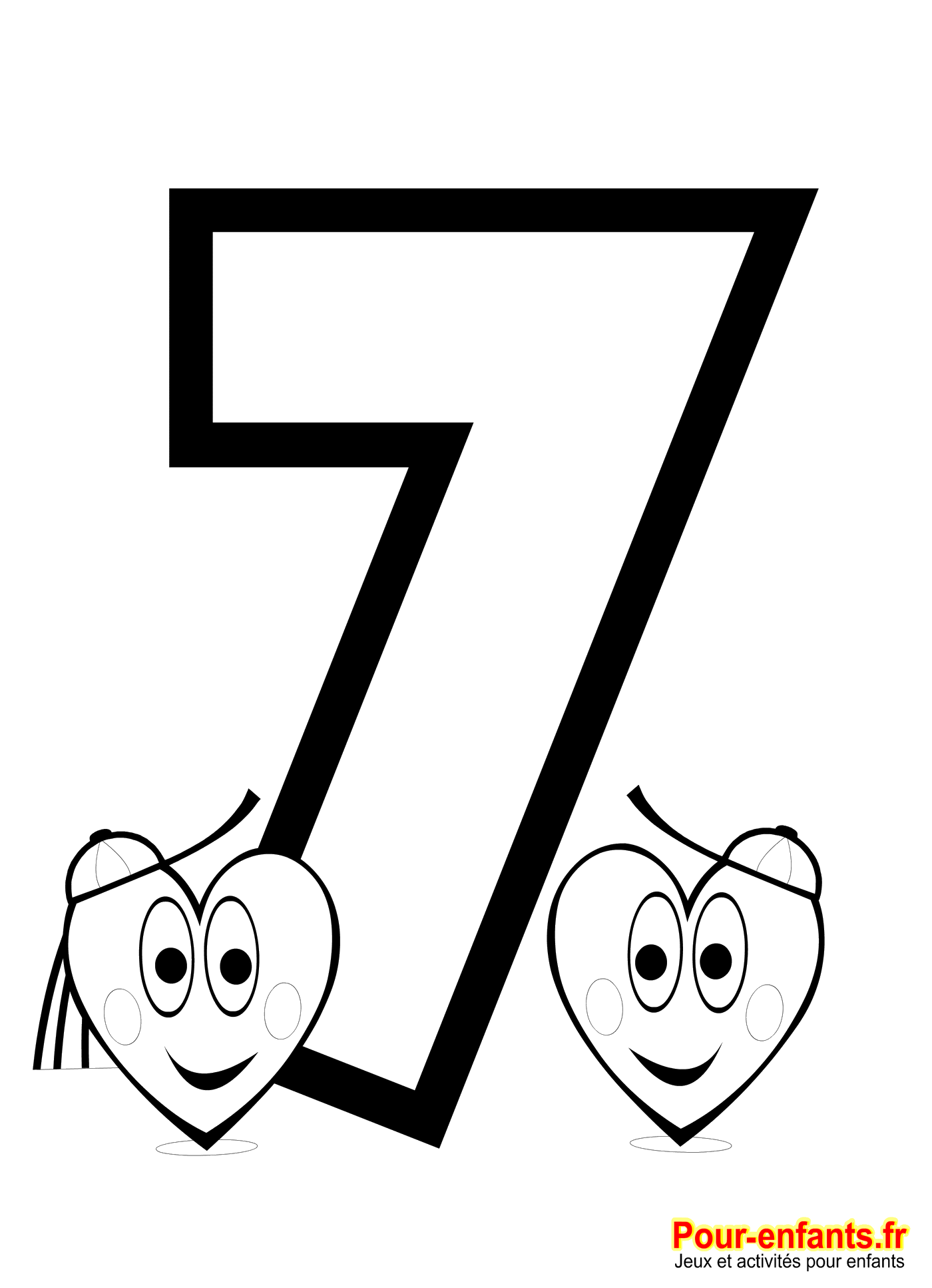 Chiffre 7 imprimer coloriages chiffres 0 1 2 3 4 5 6 7 8 9 grande taille jeux et bricolages - Des images pour coloriage ...