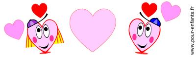 Imprimer dessins de coeurs