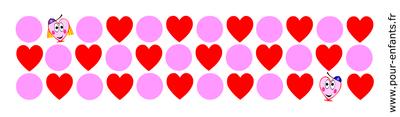 dessins de coeurs à imprimer gratuit